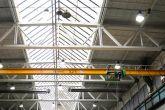 Jeřáb zhotovený pro výrobce lakovacích boxů Adamec Crane Systems pro Kovofiniš, Ledeč nad Sázavou
