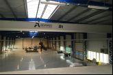 Jeřáb s jeřábovou dráhou o délce 67,9 m Adamec Crane Systems pro TGS, Mýto u Rokycan