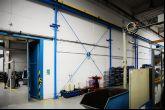 Jeřáb s jeřábovou dráhou o délce 48,55m Adamec Crane Systems pro Latecoere Czech republic, Praha