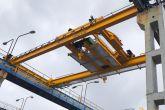 Jeřáb pro manipulaci s betonovými nosníky 10t+10t Adamec Crane Systems pro Prefa Praha