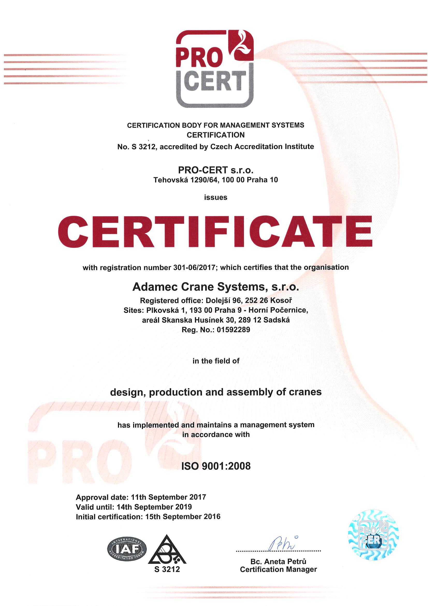 PRO-CERT ISO 9001:2008